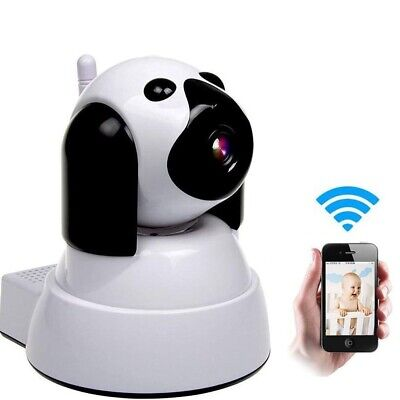 WiFi IP Camera 720P HD Wireless Dog Baby Pet Monitor with Pan/Tilt, Night Vision