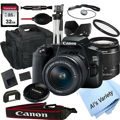 Canon EOS 250D/Rebel SL3 with 18-55mm f/3.5-5.6 Zoom Lens + 32GB(18PC)