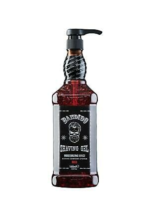 Bandido Shaving Gel Men Red 1000ml Rasiergel Transparent Männer Barber konturen