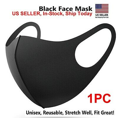 1PC Black Fashion MASK Washable Reusable & Breathable US seller  IN-STOCK