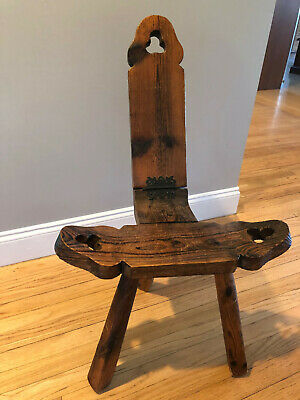 Antique Vintage BIRTH STOOL, Milking Stool, Primitive Folk Art, Doula, Midwife
