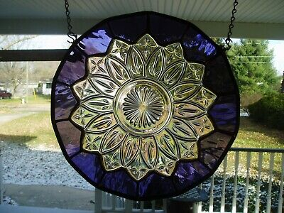 Stained Glass around Old dish