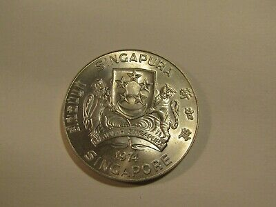Singapore 1974 10 Dollars Silver unc Coin