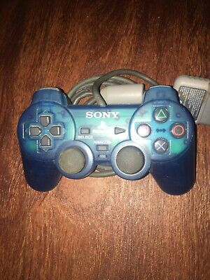 Sony Playstation 2 Blue Controller PS2 Dualshock 2 SCPH 10010 (PS1 Compatible)