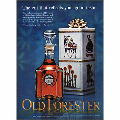 1964 Old Forester: Gift That Reflects Your Good Taste Vintage Print Ad