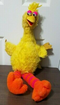 "Vintage Sesame Street Talking Big Bird 20"" Plush Pull String 1980 Jim Henson"