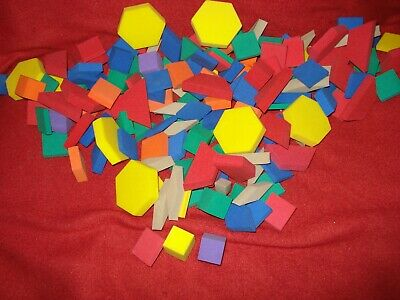 150 Math Manipulatives Tiles Geometric Shapes Homeschool Teacher Activity Crafts