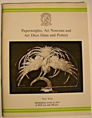 Christie's New York June 21 1979 Auction Catalog Paperweights Nouveau Deco Glass