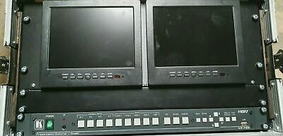 Kramer VP-728 HD Video Audio Presentation Switcher Scaler Rack with Screens