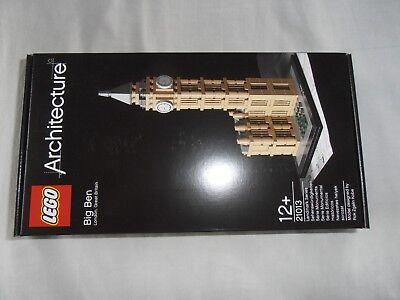 Lego Architecture Big Ben Clock Tower London 21013 Brand New And Sealed Rare B1