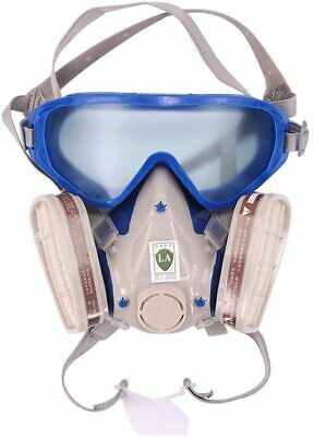 Full Face Respirator Gas Mask & Goggles Comprehensive Cover for Paint Spray UK