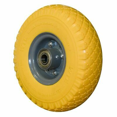PUNCTURE PROOF PU REPLACEMENT TYRE ON STEEL JOCKEY WHEEL 260mm x 70mm 19mm BORE