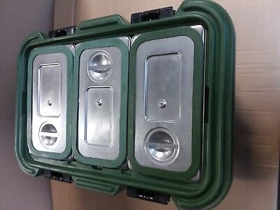 Cambro UPCS180 Food Carrier with stainless inserts and seals. (Quantity of 25)