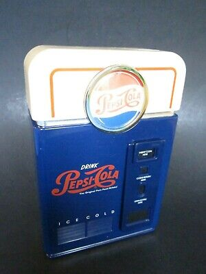 Pepsi Cola Coin Sorter Mini Vending Machine Bank Collectible from 1998 ~ Mint !