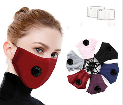 Cotton Reusable Mouth Shield Activated Respirator Anti-fog PM2.5 Filter