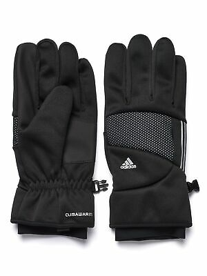 Adidas Womens Touchscreen Fleece Lined Winter Texting Gloves - Black Large