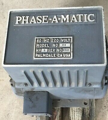 R-3 Phase-A-Matic 60 HZ 220 Volt Rotary Phase Converter 3 HP 230 460 volt
