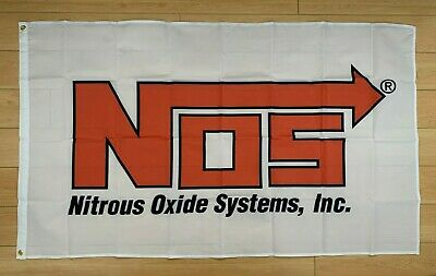 NOS Nitrous Oxide Systems 3x5 ft Flag Banner Car Racing