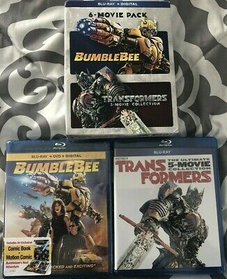 Bumblebee & The Transformers Ultimate 6-Movie Collection - Blu Ray + Digital