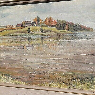 Canadian Oil Painting Canadian Artist Joan Watson Framed Oil Painting Landscape