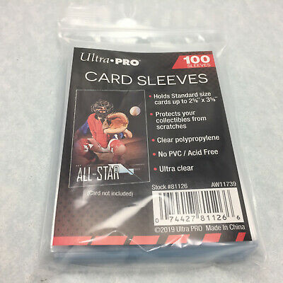 """100 Ultra Pro Soft Penny Card Sleeves 2 5/8 x 3 5/8-Inches 2-5/8"""" X 3-5/8"""""""
