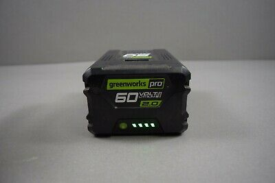 Greenworks LB60A00 Pro 60V Max 2-Amp Hour Rechargeable Battery