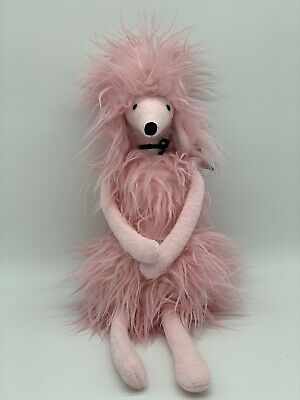 New With Tags Pink Jellycat Paris Poodle afghan greyhound - retired.