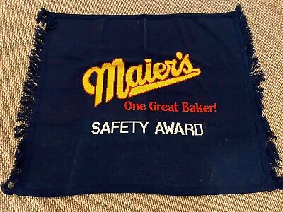 Vtg Maier S Bread Advertising Souvenir Blanket Comforter Safety Award