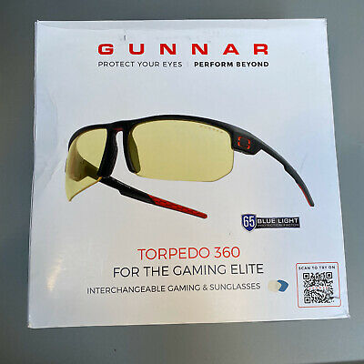 Gaming Glasses | Blue Light Blocking Glasses | Torpedo 360/Onyx by Gunnar