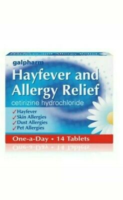 Cetirizine 10mg 14 tablets - Galpharm One a Day  Allergy and Hayfever Relief
