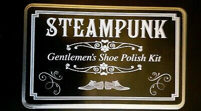 Steampunk Gentlemen's Shoe Polish Set In A Tin