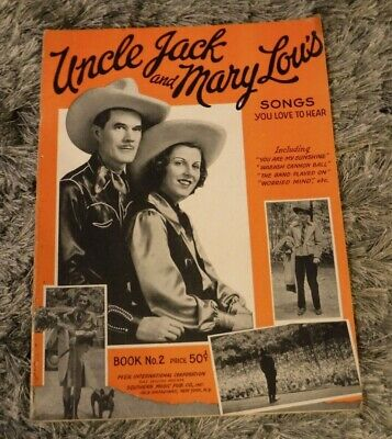 UNCLE JACK & MARY LOU'S SONS BOOK NO 2  SOUTHERN MUSIC Tonight of My Blue Eyes;