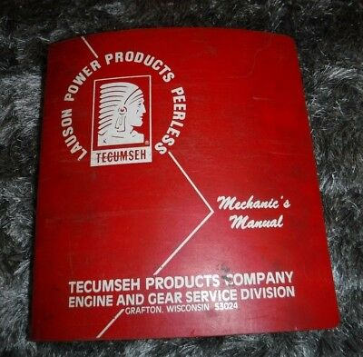 Tecumseh Products Mechanics Manual, Engine,Tvs840,2 Cycle,4 Cycle,Overhead,Drive