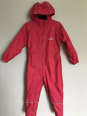 Baby Girls Peter storm All In One Puddle Suit/Waterproof/Pink Fleece Lined 18-24
