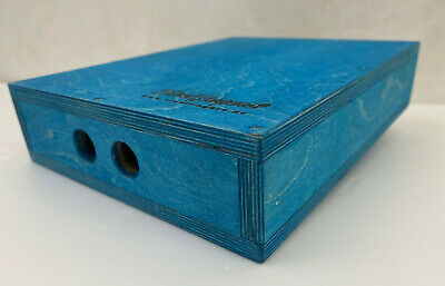 Steelfingers® Holzkisten Apple Box Applebox 100mm  Made in Germany Colour Blue