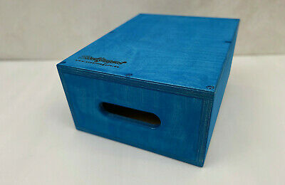 Steelfingers® Holzkiste Apple Box Applebox 200mm  Made in Germany Colour Blue