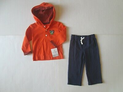 Carter/'s Boys Blue Terry Hoodie Play to Win /& Gray Jogger Pants 2pc Set NWT $24