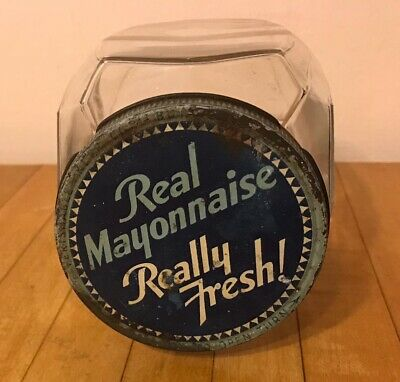 Antique/Vintage Best Foods REAL MAYONNAISE REALLY FRESH! Glass Jar Can Container