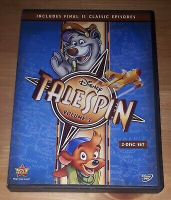 Talespin: Volume 3 (DVD, 2-Disc Set) Includes Final 11 Episodes, Disney Series