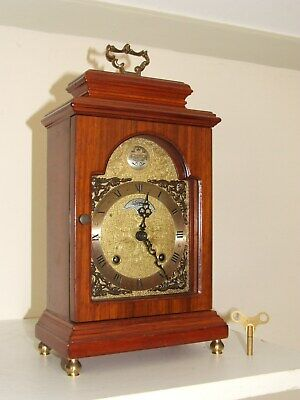 Dutch WARMINK/WUBA Bracket/Mantel/ Clock,2 Bell Chimes,8 day movement, Oak Case