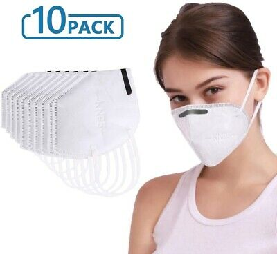 Medical Face Mask KN95 10-Pack Disposable Safety Protection Mouth Covering CHOP