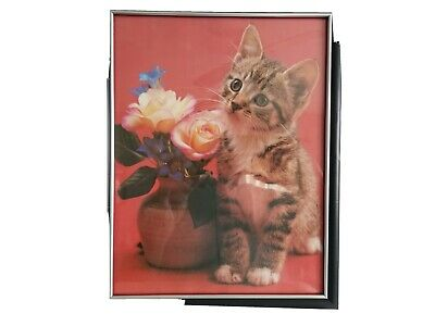"Cat Picture ""Flower For You Mom"" Kitten Picture"