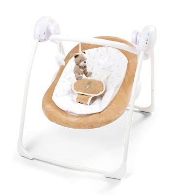 Deluxe Foldable Baby Bouncer Little Teddy First Swing Soothing Music & Toys 080
