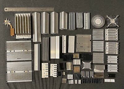 Lot of 55 Miscellaneous Sizes Kinds Heat Sinks For DIY Projects
