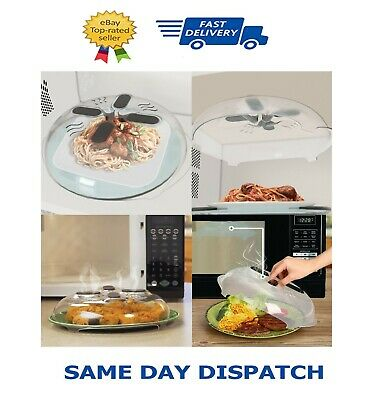 New Food Splatter Guard Microwave Hover Anti-Sputtering Cover Oven Oil Cap