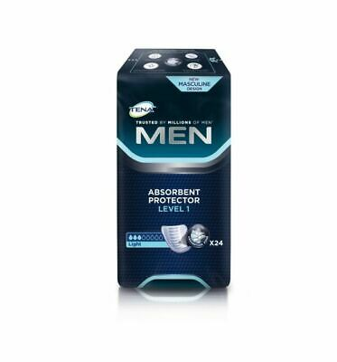 Tena Men Level 1 Absorbent Protector Packs of 24 Guards Incontinence Pads