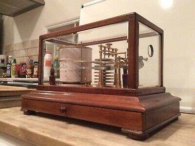 Rare Barograph And Thermograph Combined Instrument