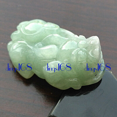 Certified 100% Natural A Jadeite mythical wild animal Pendant Women Jewelry JD64