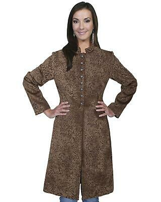 Scully Wahmaker Womens Floral Flocked Coat