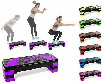 Training Step Height Adjustable Aerobic Fitness Exercise Stepper 3 levels